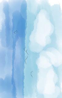 天空简笔画