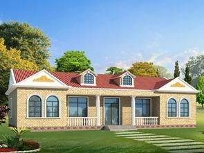 农村一层小别墅设计图,20.64X12.54米,10-15万-农村别墅设计图...