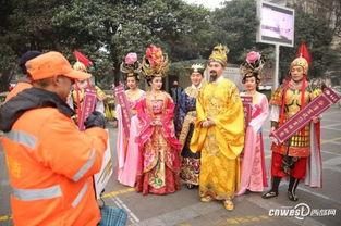 ...玄宗 杨贵妃 穿越西安街头 倡导低碳生活