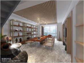 将书画室与楼梯间的隔墙拆除,并设置木隔断,舒展了空间.楼梯裸...