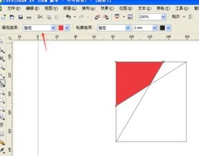 在CDR X6里如何填充由直线构成的图形里的颜色