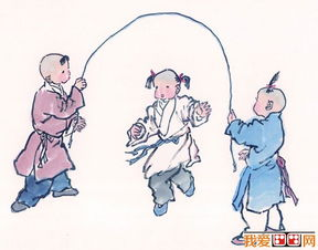 儿童画画图片 古代娃娃玩耍嬉戏国画人物图片12p
