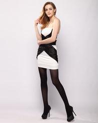 ...装黑色蚕丝蛋白80D加裆连裤袜