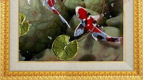 八鱼图 ED002慧心丝带绣新品中国风挂画客厅立体绣十字绣包邮