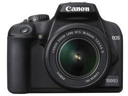 带防抖镜头 佳能最低价单反1000D套机降价