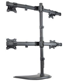 Quad Monitor Heavy Duty Stand Free Standing Desk Mount 4 LCD ...