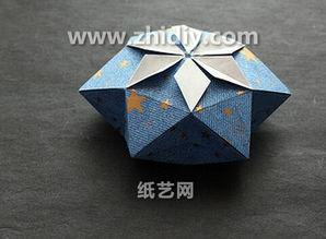 圣诞节礼物盒手工折纸盒子的折法视频教程