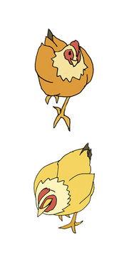 手绘儿插卡通形象动物漫画家禽鸡
