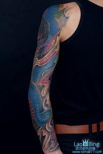 更多花臂般若龙纹身图案作品请关注老兵纹身网www.tattoo77.com-本...