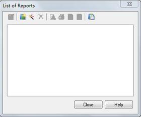 (2)在List of Reports对话框中显示所有的文档,如果没有显示,也可以...