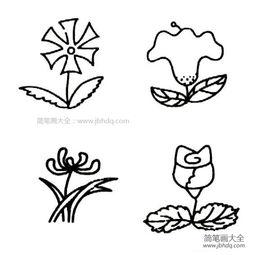 花朵的简笔画图片 - 花朵简笔画-梧桐树叶简笔画图片