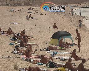 三亚大东海景区天体浴场 裸泳已见惯不怪