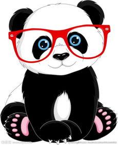 卡通熊猫矢量图片