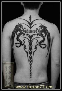 ...更多满背图腾龙纹身图案作品请登陆武汉老兵刺青网http://www.tattoo...