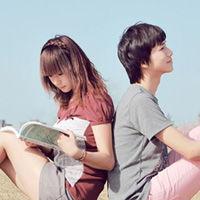 高清唯美情侣头像一对两张 不羡慕年轻时多么恩爱