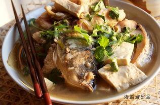 猪皮豆腐炖鲤鱼的做法