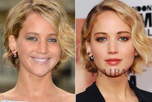 姐也色王梦溪- 躺枪明星:詹妮弗·劳伦斯(Jennifer Lawrence) 左图底妆问题:底...
