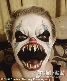 ...呀妈呀 热爱画恐怖鬼脸的娃妈