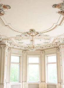 欧式阳台吊顶效果图-复古风格家装书房,复古风格家庭装修书房