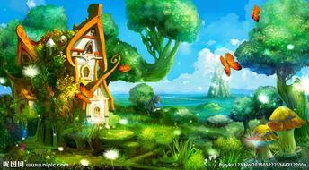 天空之城魔幻魔法森林唯美仙境卡
