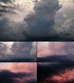阴云密布的天空暴风天气背景视频