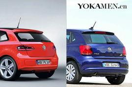 大众新一代POLO与老款车尾对比-前脸更凶悍 大众新一代POLO效果图...