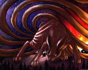 求火影忍者鸣人仙人的图和九尾图