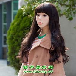 韩式中长发烫发发型图片