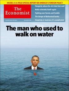 图为最新期《经济学人》杂志封面-鱼儿离不开油水