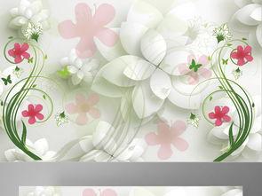 3D花朵卧室壁画背景墙图片设计素材 高清psd模板下载 307.09MB 3D...