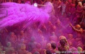 ...个人都将手里的彩色粉末或是彩色的水互相喷洒,以庆祝?-看全世界...