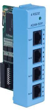 研华通讯模块 ADAM 5090 5091 4端口RS 232模块