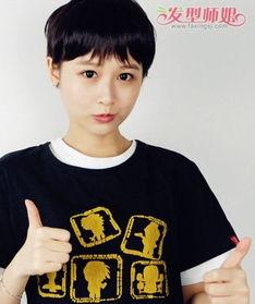 女生碎发刘海超短发发型-女孩子剪了男装头每天怎样打理头发 4