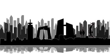 城市剪影简笔画