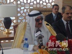 图为为沙特阿拉伯馆开幕剪彩的沙特王子接受采访.新民网记者  -沙特...