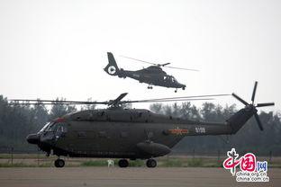 国产直升机表演