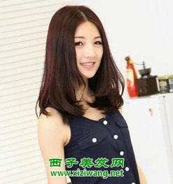 韩式好看的中长发烫发发型