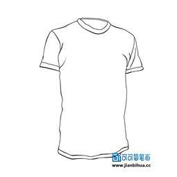 服装t恤简笔画,衣服简笔画图片大全,短袖T恤衫的简单画法,儿童画...