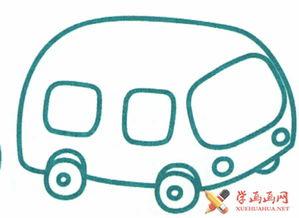 卡通小汽车简笔画图片6幅