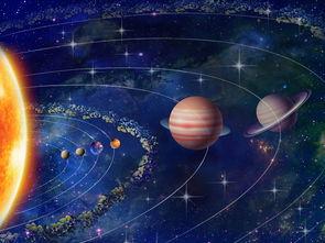 星空宇宙银河系背景墙图片下载