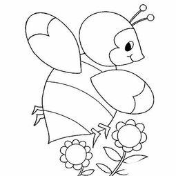 漂亮小蜜蜂的简笔画画法.小蜜蜂的画法,卡通简笔画,卡通小蜜蜂...