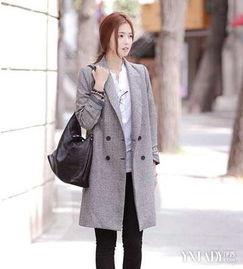 帅气的中长款毛呢西装外套 4个方法穿出知性优雅