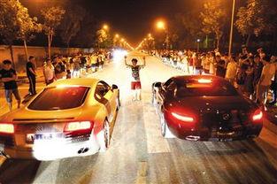 ...8月24日晚,北京郊外,赛车爱好者在飙车.资料图片/新京报记者   ...