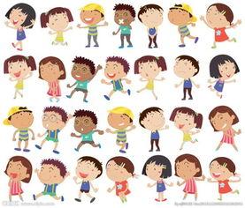 卡通儿童动作图片