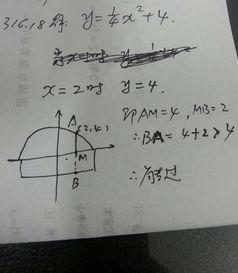 ...线可以用y 四分之一x的平方 4表示