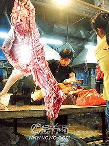 清河市场公开摆卖注水肉