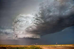 空中超级风暴云,壮观