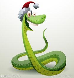 带着圣诞帽的卡通蛇图片