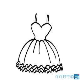 公主裙怎么画 儿童公主裙简笔画图片