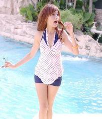 特价可爱少女Vicki泳装 韩国设计分体平角泳衣显瘦钢托小胸遮小肚
